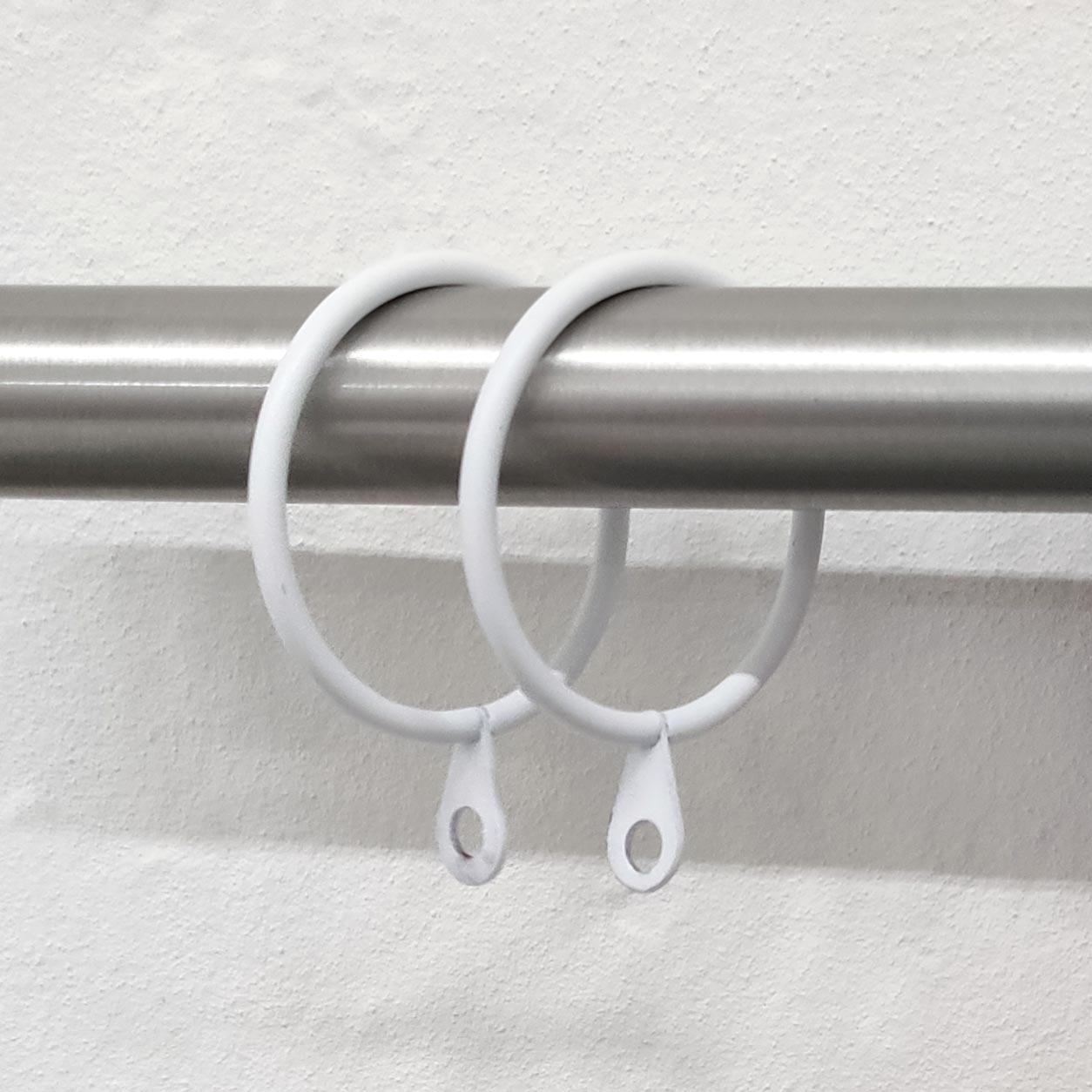 Anelli per Bastoni Diametro 36 mm - Bianco Opaco - 10 pz