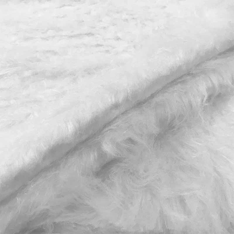 Tessuto Pelliccia Economica Pelo Lungo Bianco