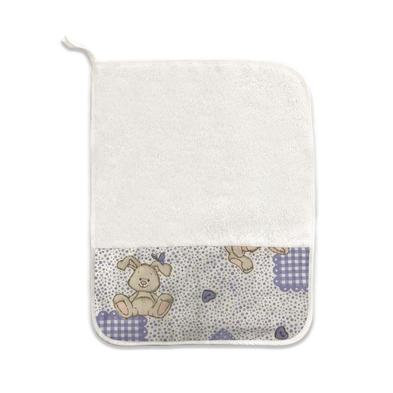 Asciugamano Coniglietto Carote Lilla