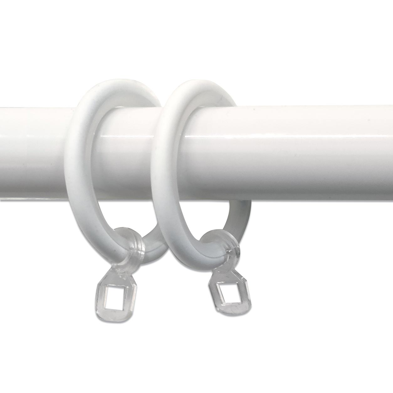 Anelli per Bastoni Diametro 26 mm - Bianco - 10 pz