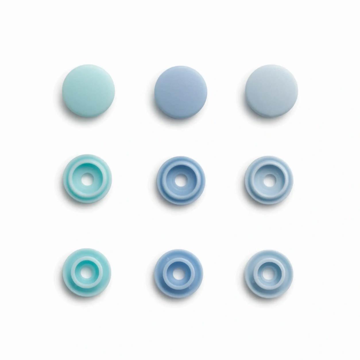 Bottoni a Pressione Color Snap Azzurri Prym Love 9 mm