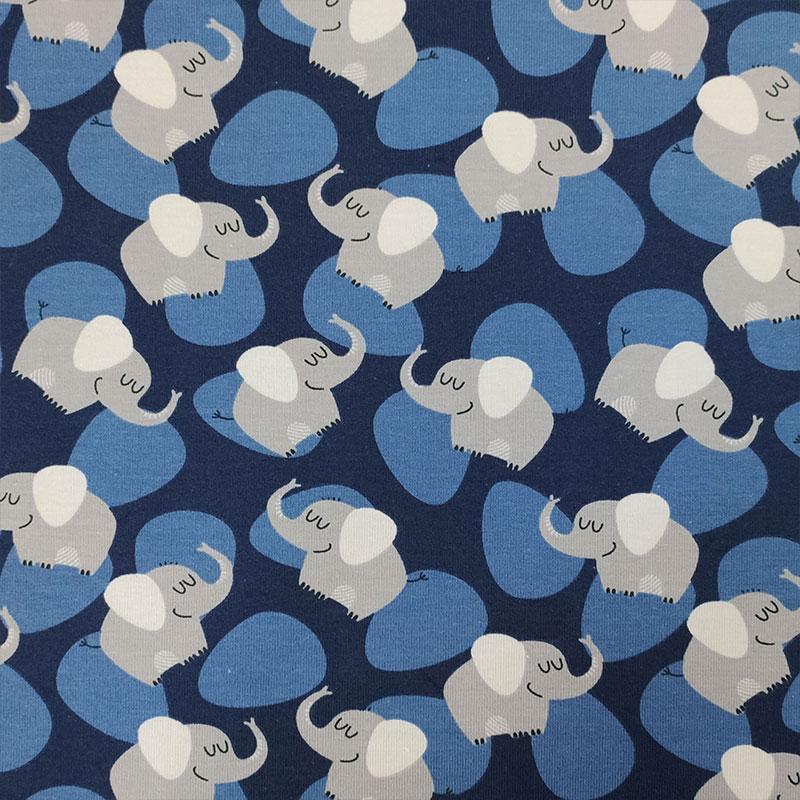 Jersey Elefantini Sfondo Blu