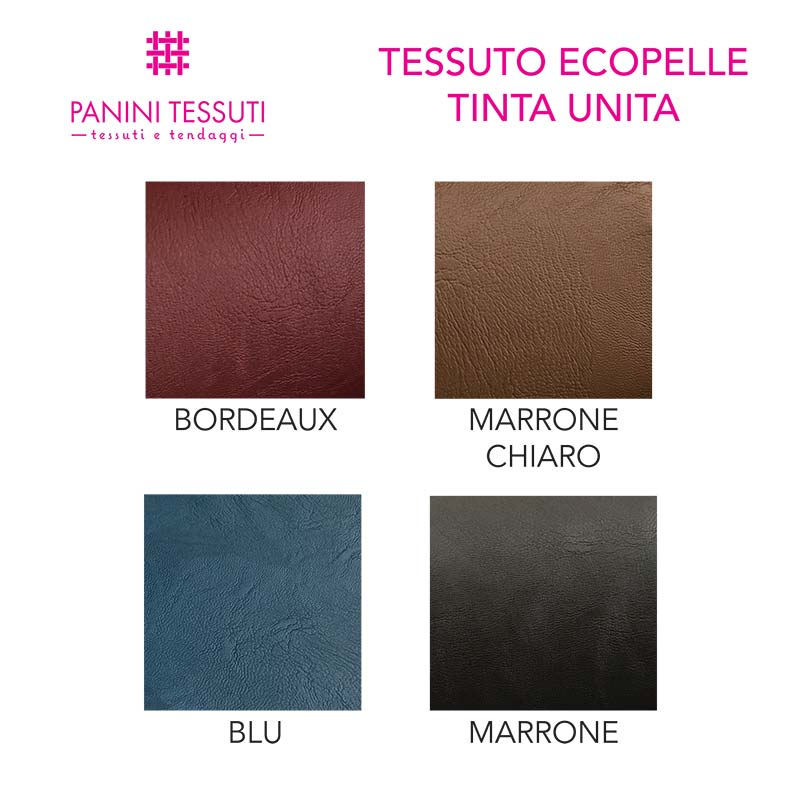 Tessuto Ecopelle Tinta Unita per Abbigliamento
