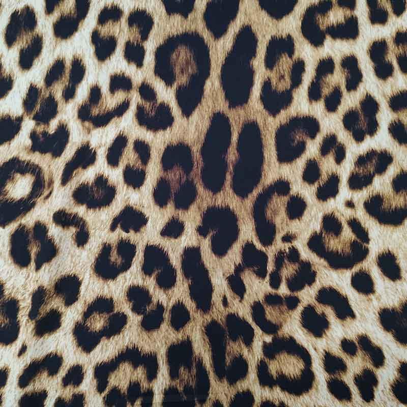 Tessuto Misto Seta Leopardato