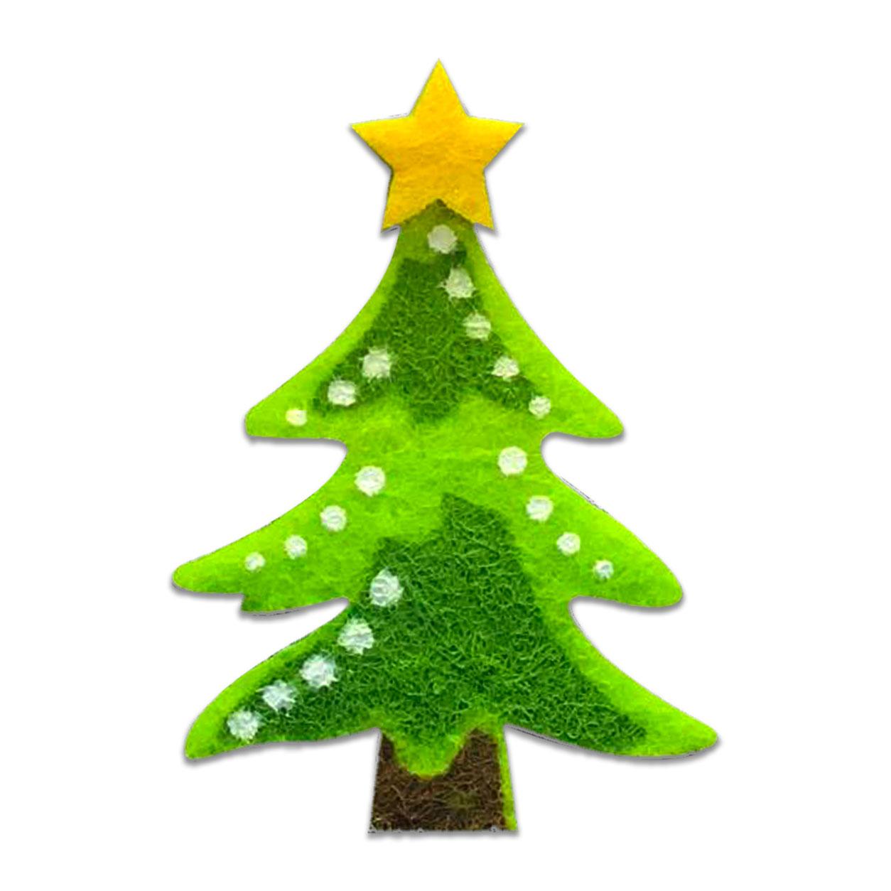 Applicazione in Feltro Natalizia Albero di Natale Palline Bianche