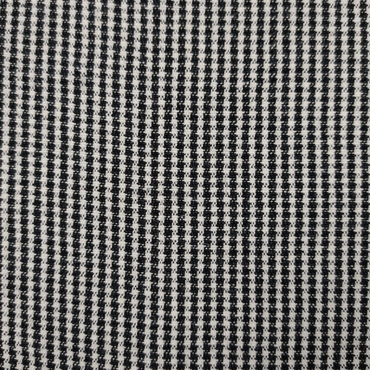 Tessuto Mini Pied de Poule Bianco e Nero