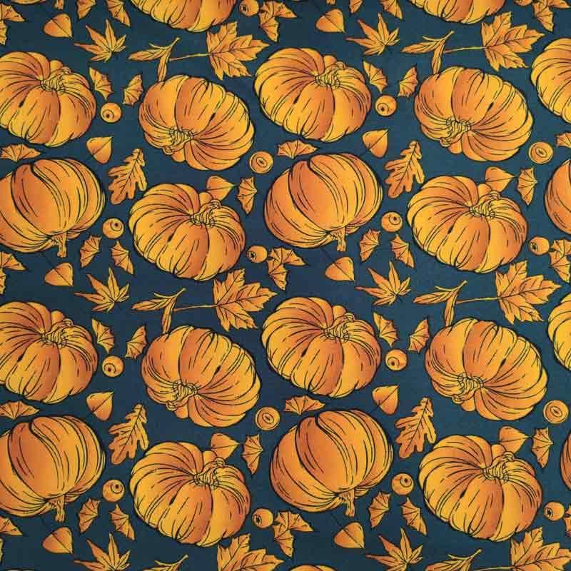 Tessuto Halloween Zucche
