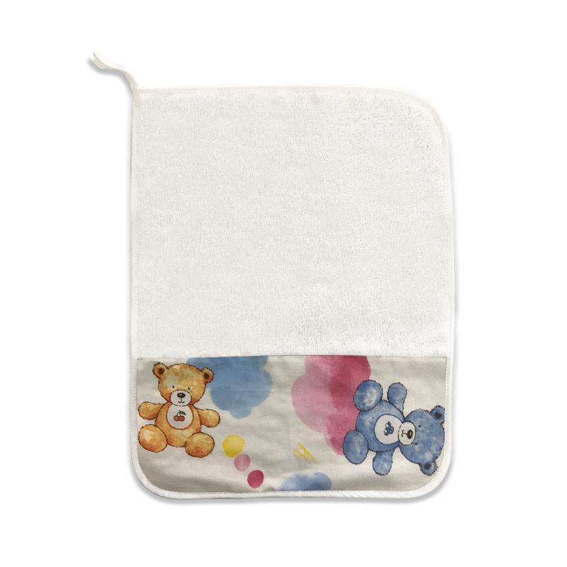 Asciugamano Orsetti e Nuvole Rosa