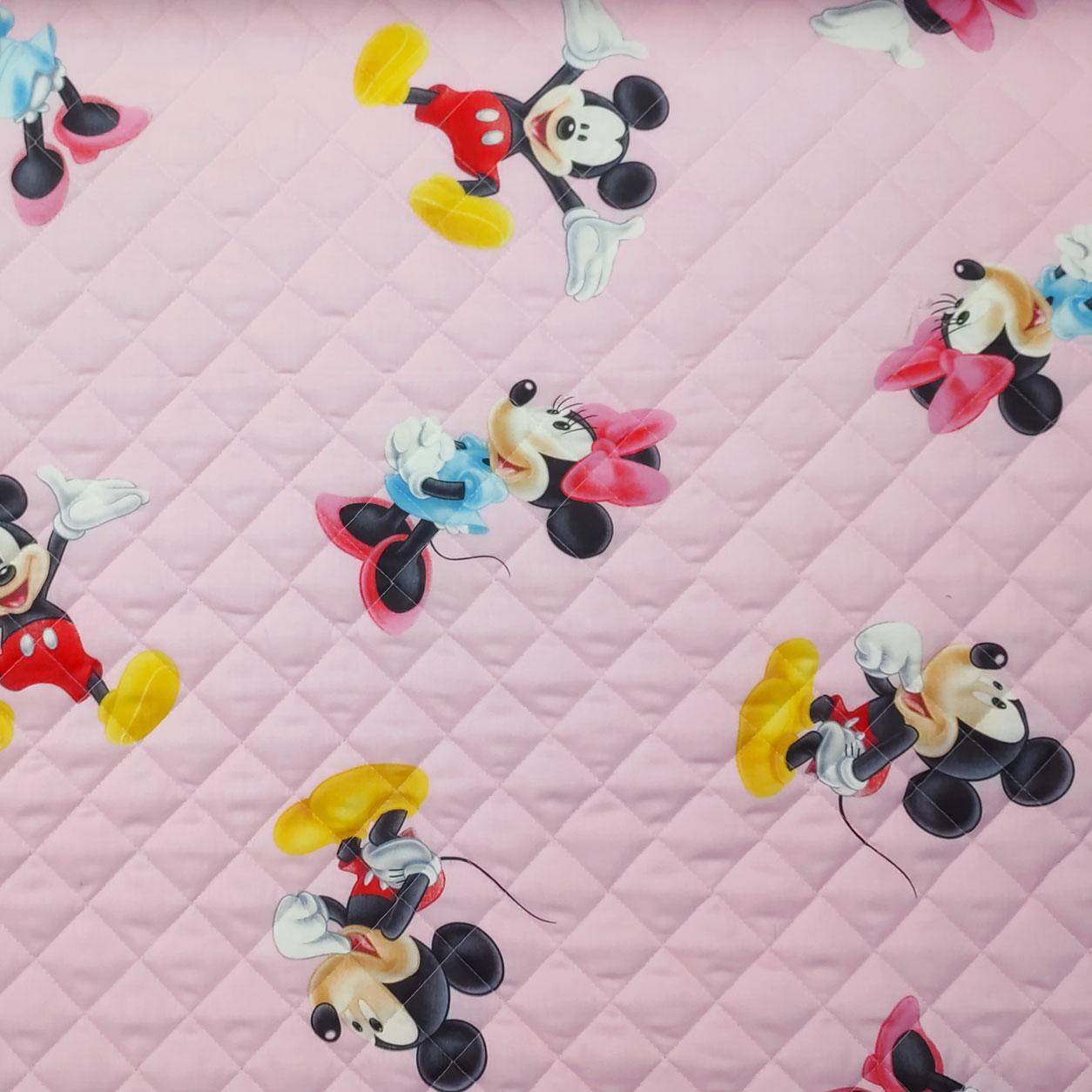 Trapunta Disney Topolino e Minnie Rosa