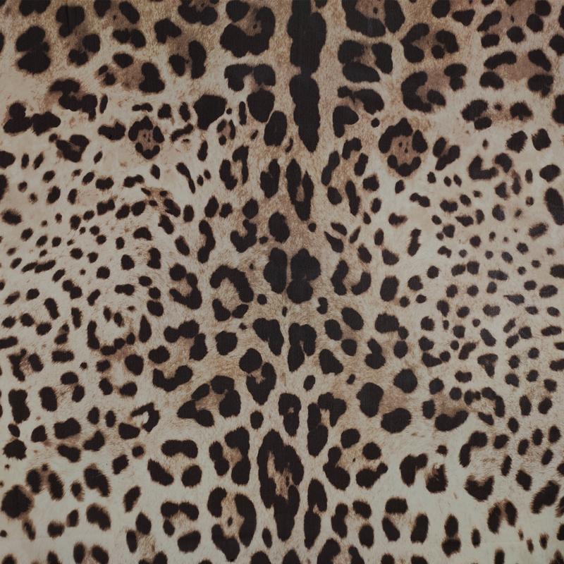 Tessuto Chiffon Seta Pura Leopardato