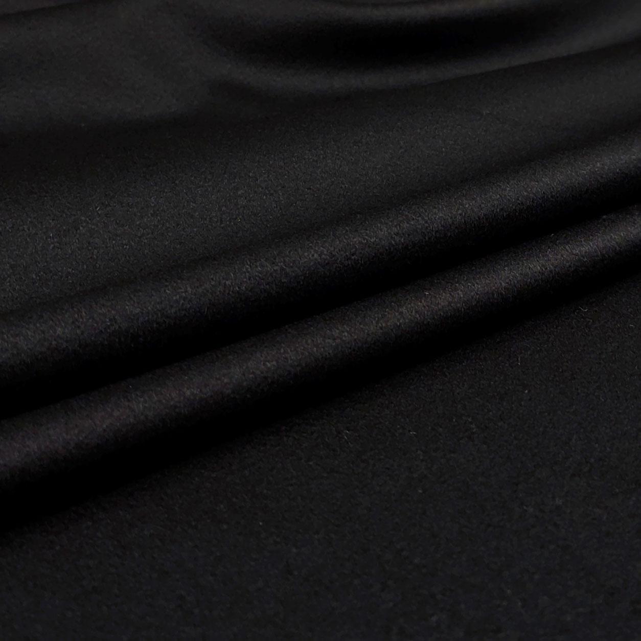 Tessuto Cappotto Alta Moda Cachemire Nero