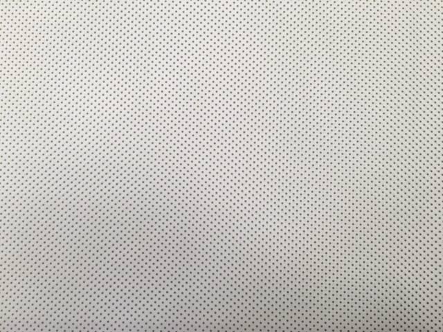 Tessuto Cotone Bianco a Pois Verdi