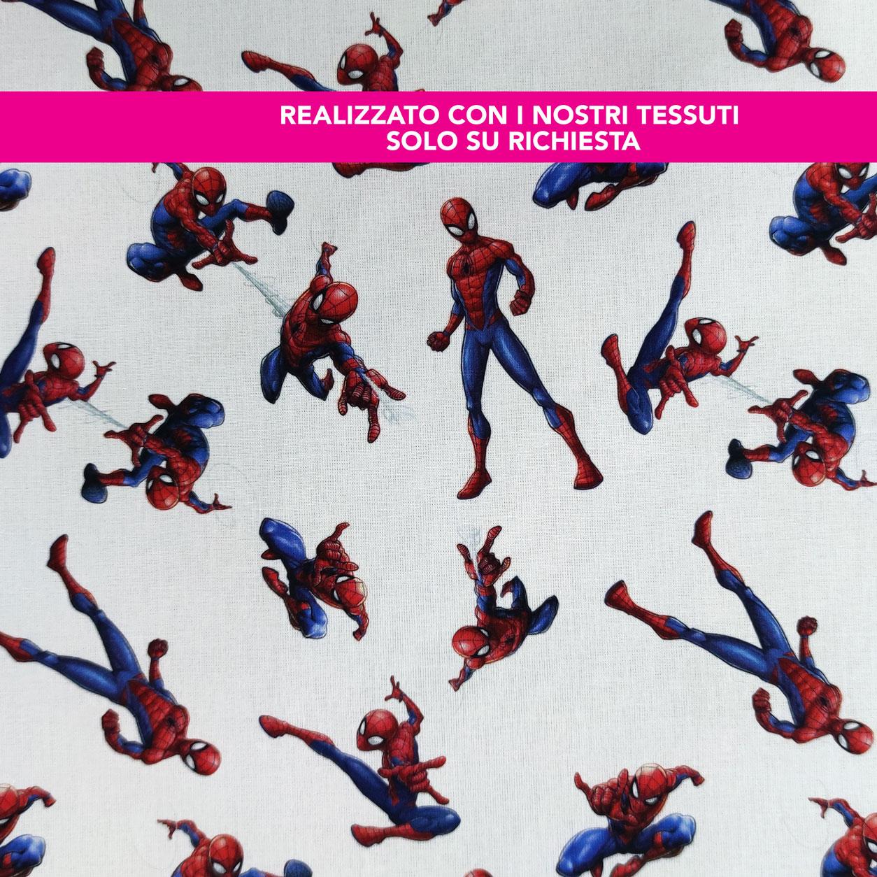Porta Bavaglino Asilo Personalizzato Spiderman Grande