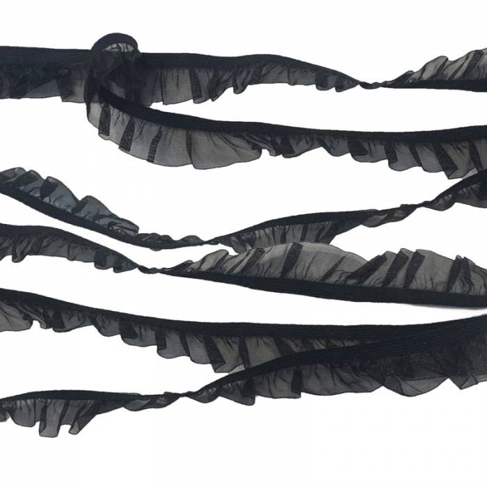 Passamaneria Rouche Elastica in Organza