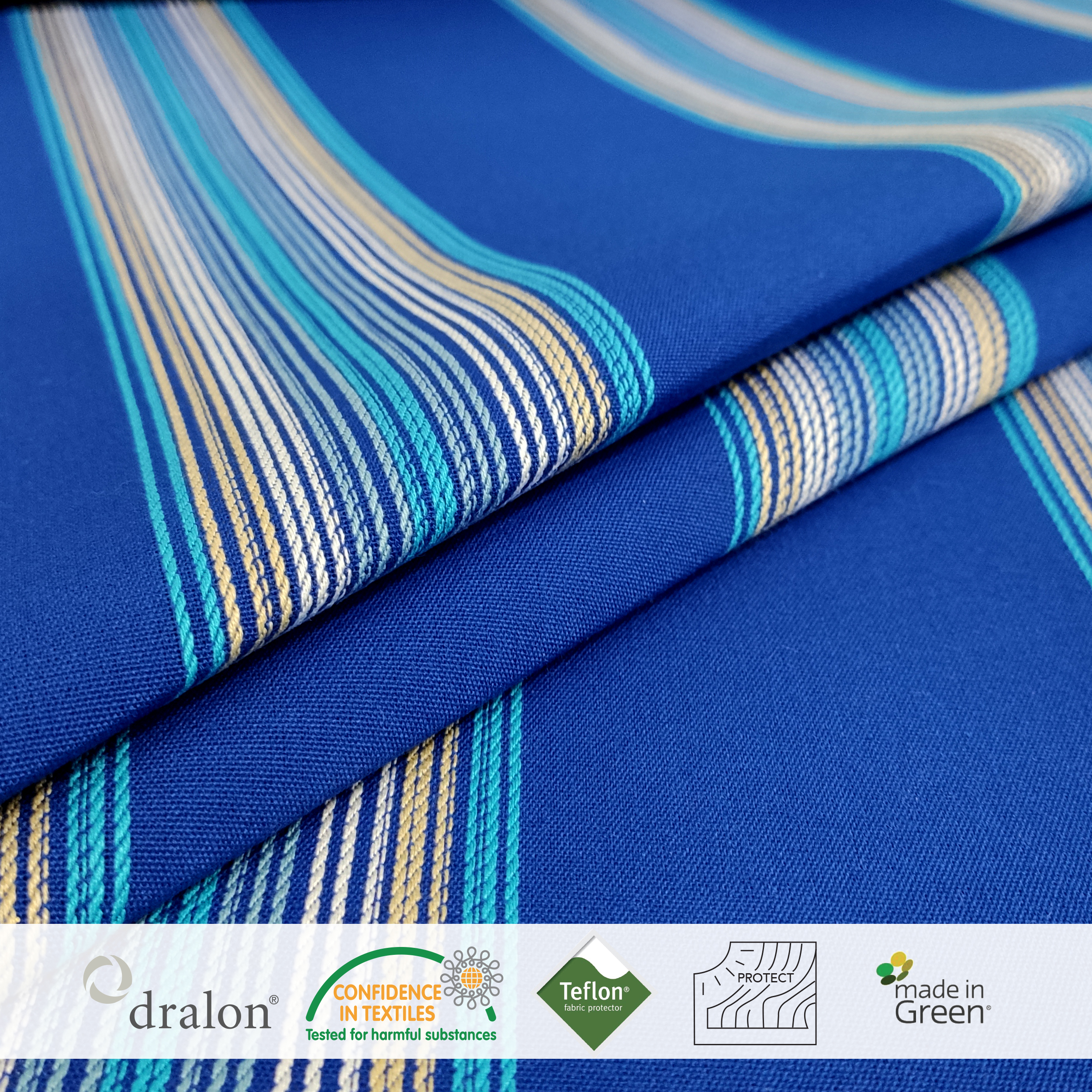 Tessuto da Esterno-Fantasia-Fasce-Rigate-Blu