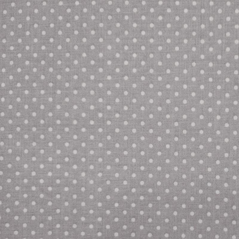 Tessuto-Cotone-Mini-Pois-Bianchi-Sfondo-Grigio