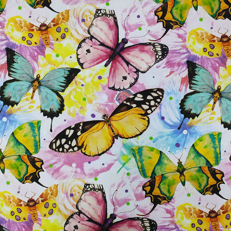 Tessuto-Arredo-Panama-Stampato-Farfalle