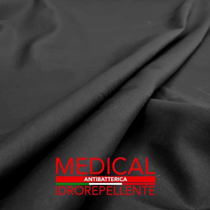 Tela Cotone-per-Mascherina-Antibatterico-Oleoidrorepellente-Nero