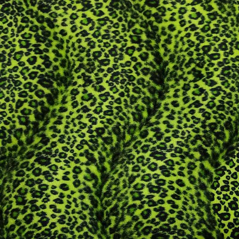 Tessuto Cavallino Leopardato Verde