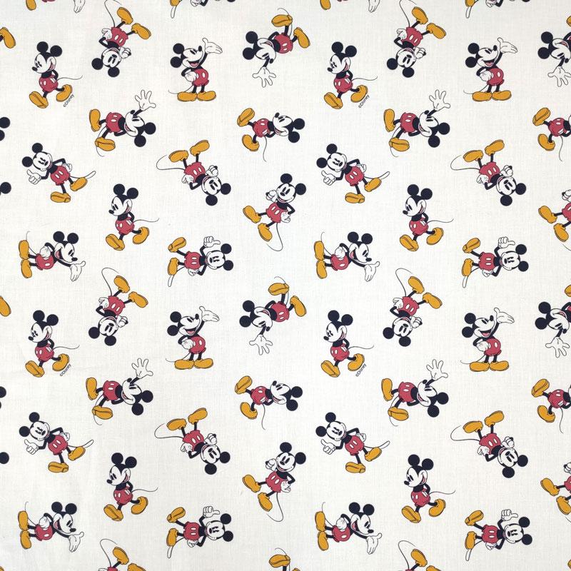 Tessuto Cotone Disney Mickey Mouse Vintage
