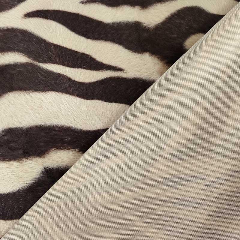 Tessuto Cavallino a Fantasia Zebra Marrone e Beige