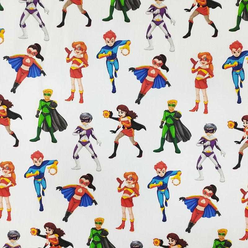 Tessuto Cotone Supereroi