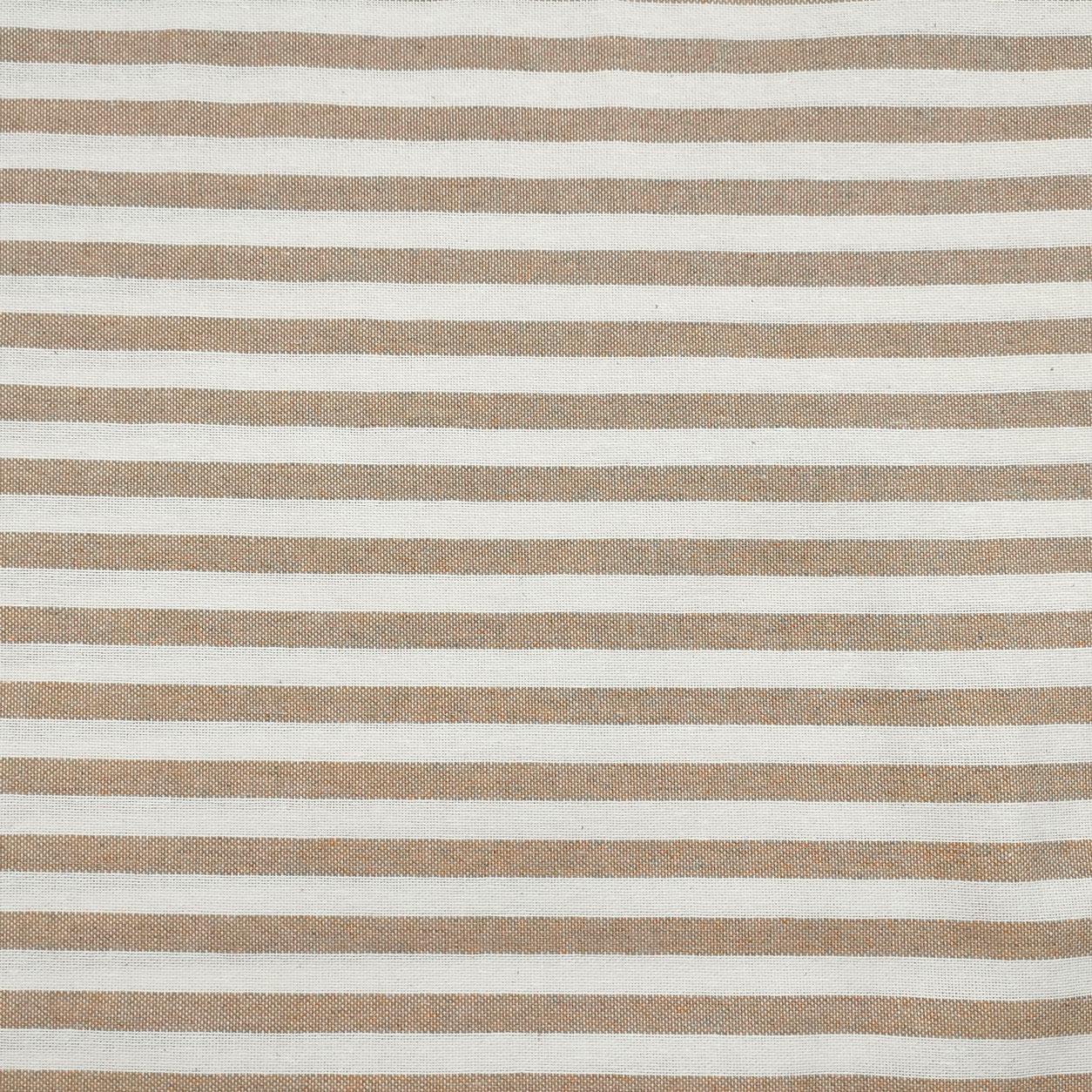 Tessuto Panama Tinto In Filo a Righe Beige