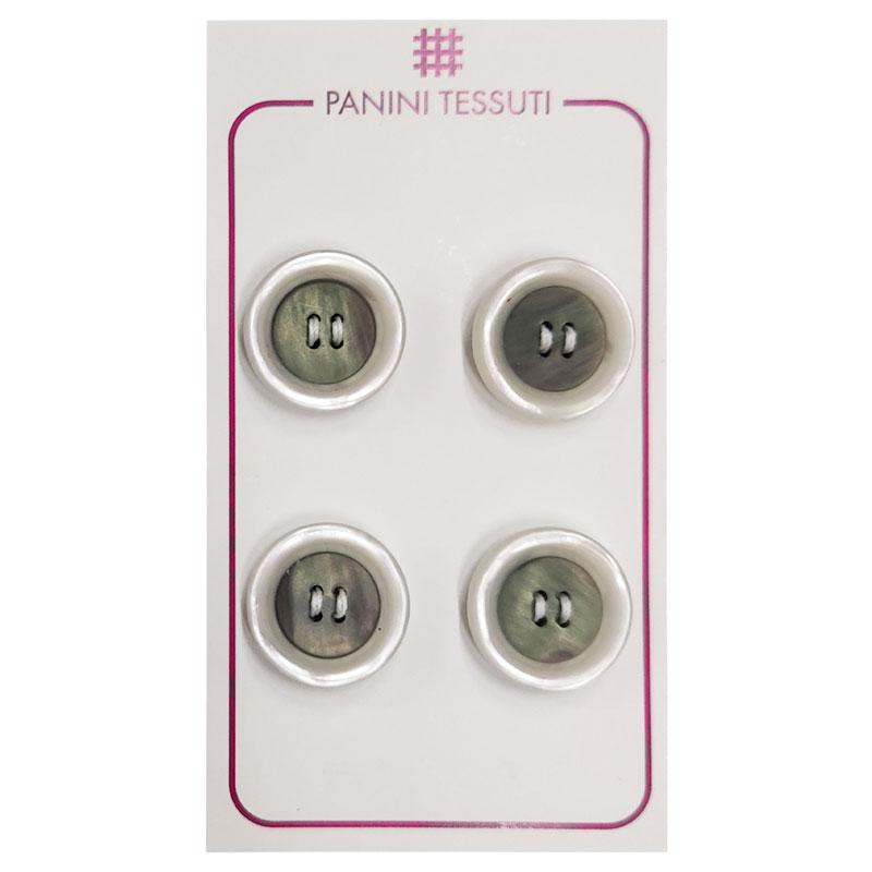 Bottoni Effetto Marmo Colore Trasparente 4 Pezzi - Lin 28