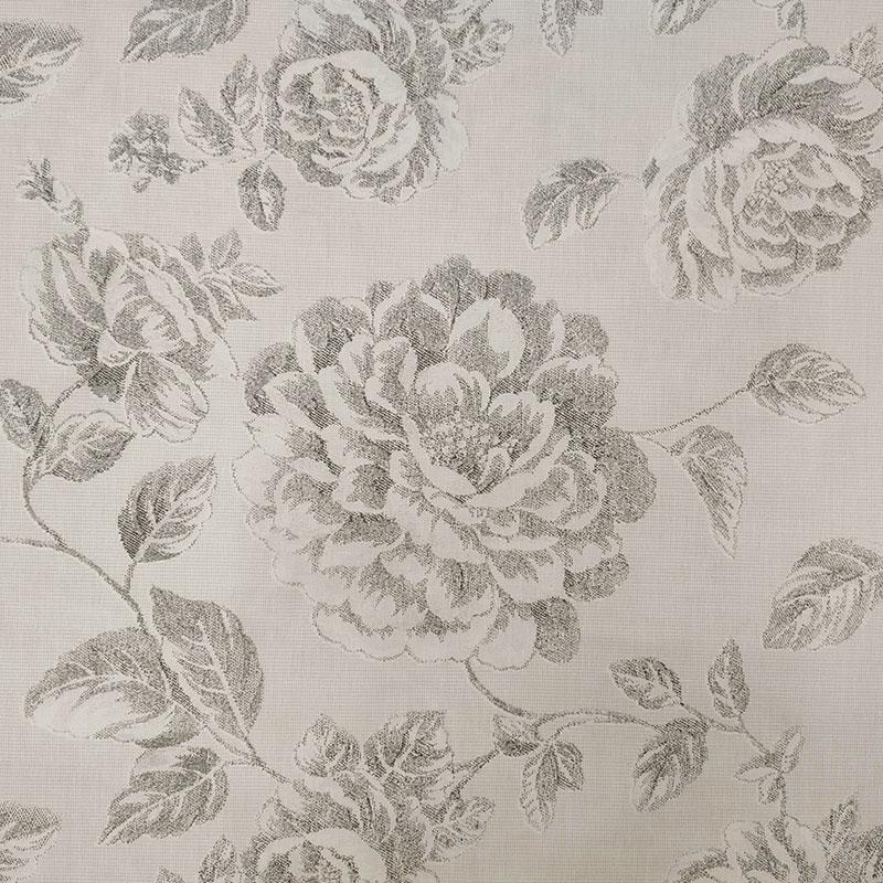 Tessuto di Cotone Rose Disegnate Sabbia