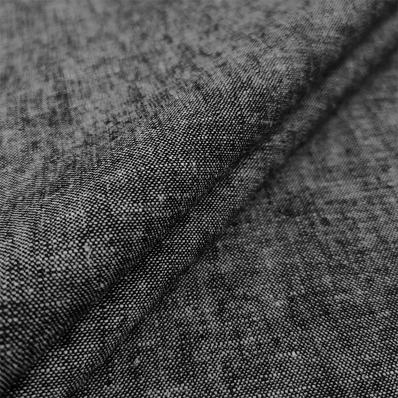 Tessuto Jeans Leggero Lavato Nero
