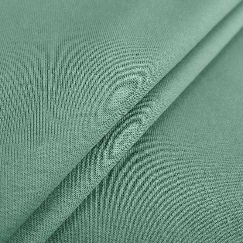 Felpa di Cotone Organico Tinta Unita  Verde