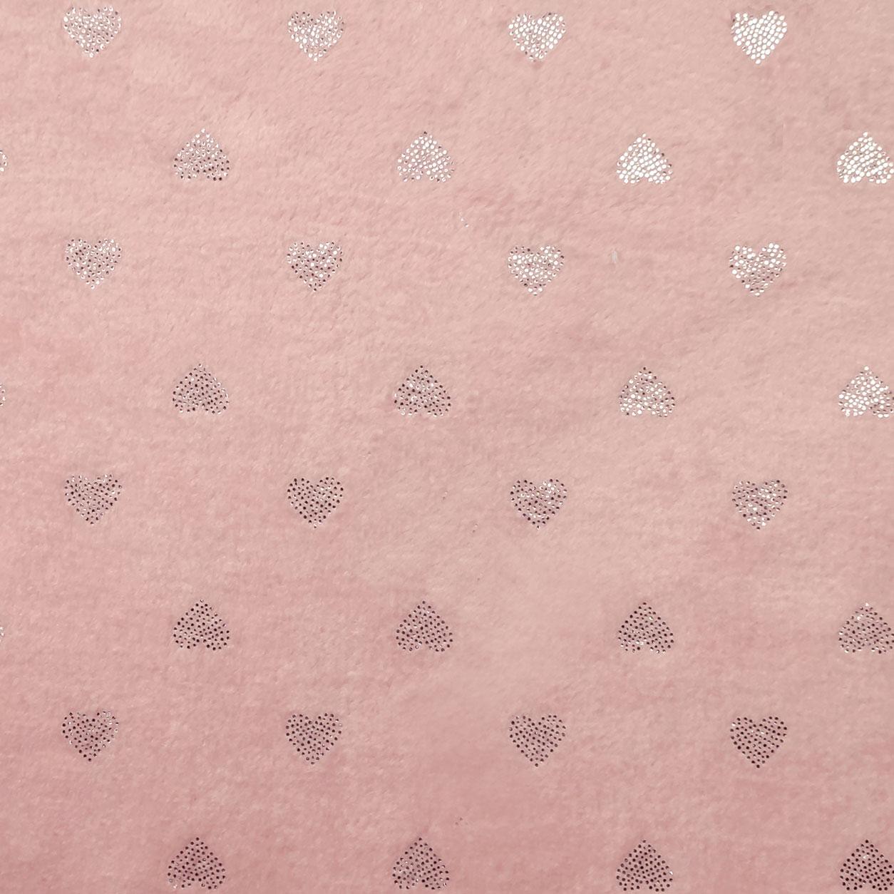 Pile Mano Cachemire Rosa Baby Cuoricini Argento