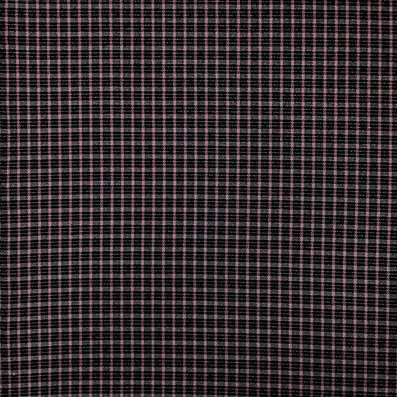 Tessuto Quadretto Moda Nero e Rosa Antico