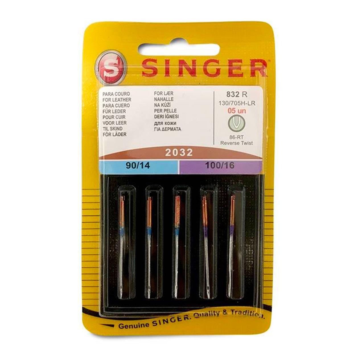 Aghi Singer Per Pelle Set 5 Aghi