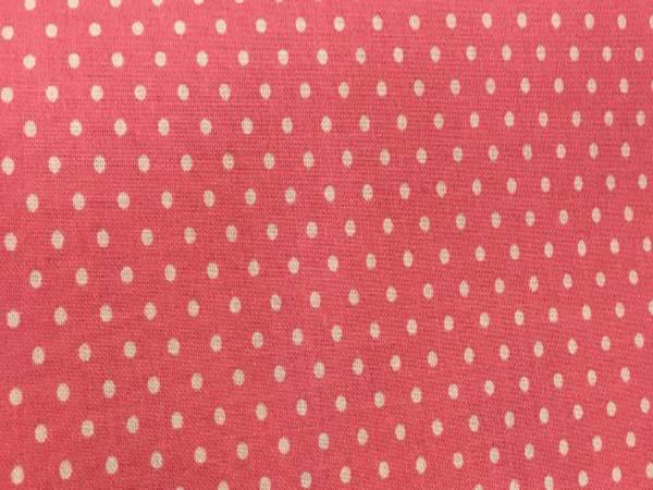 Tessuto Cotone Rosa a Pois