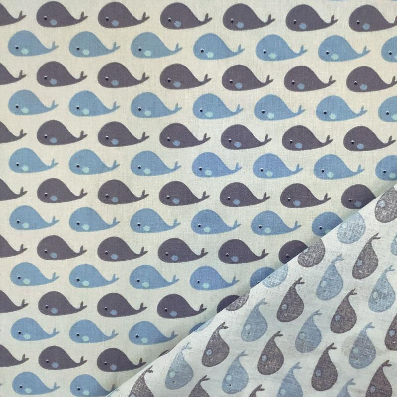 Rasatello di Cotone Piccole Balene