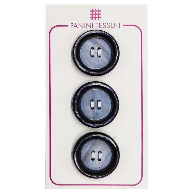 Bottoni Effetto Marmo Colore Blu 3 Pezzi - Lin 36