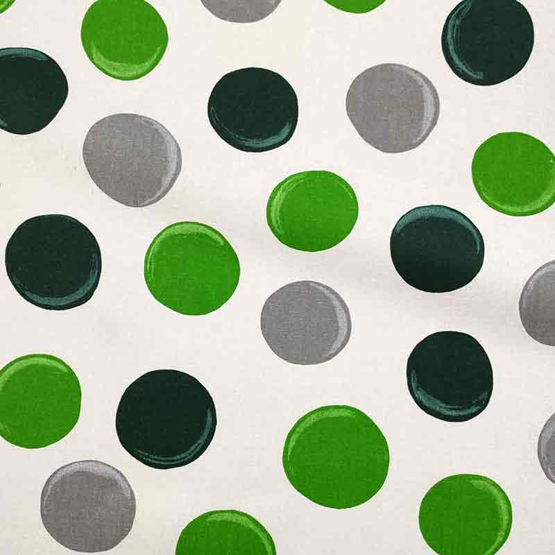 Tovaglia Resinata Pois Disegnati Verdi