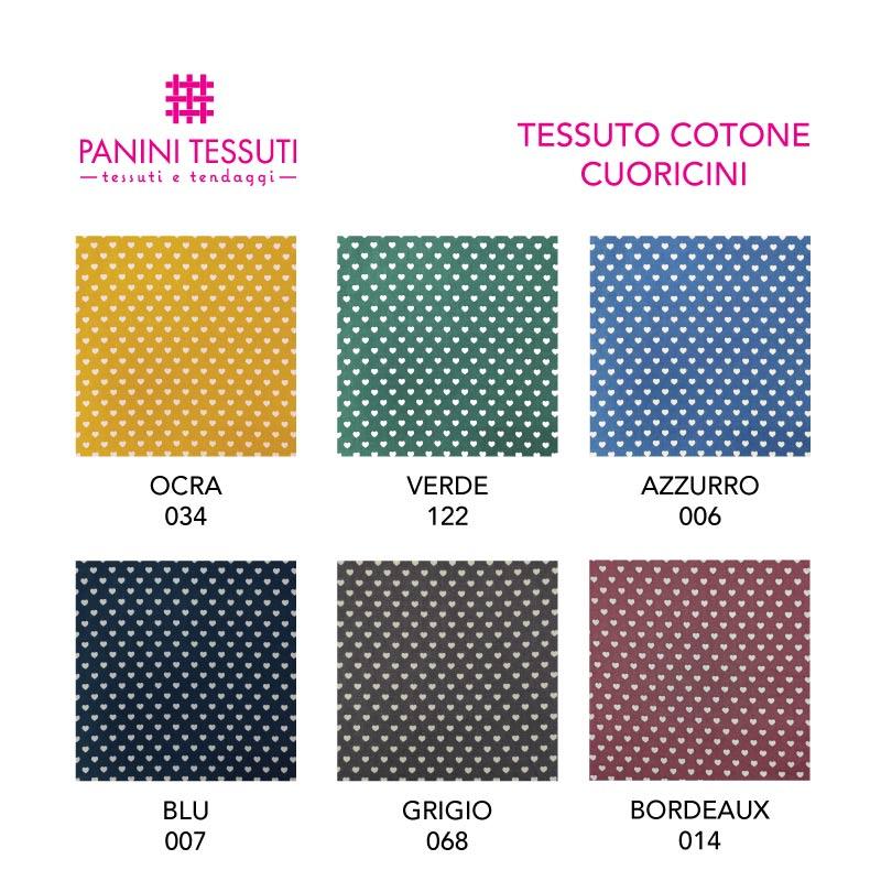 Tessuto di Cotone Cuoricini Cartella Colore