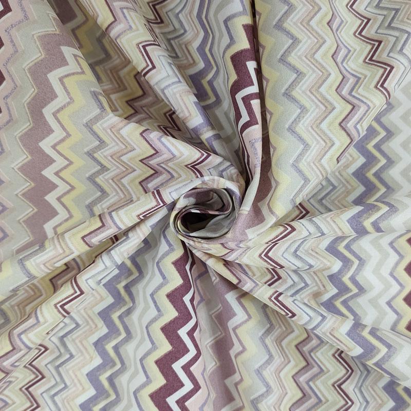 Tessuto di Cotone Zig Zag Multicolor