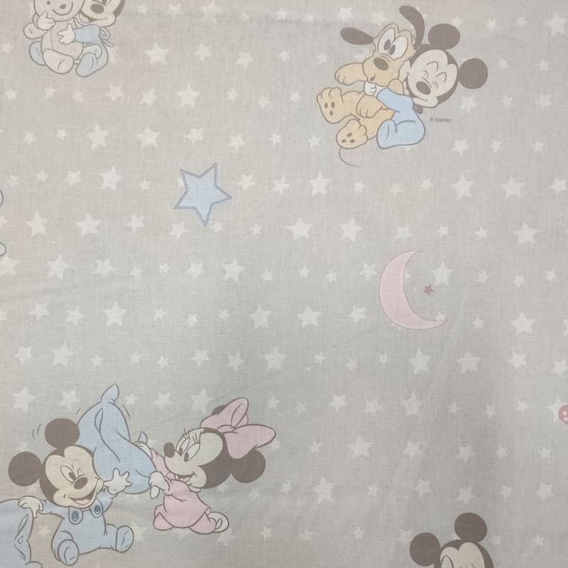 Tessuto Cotone Disney Baby Buonanotte