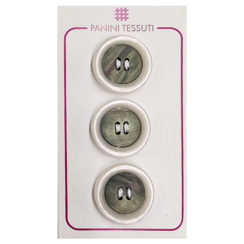 Bottoni Effetto Marmo Colore Trasparente 3 Pezzi - Lin 36