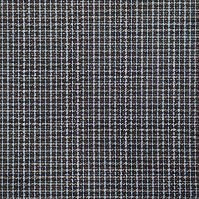 Tessuto Quadretto Moda Nero e Azzurro