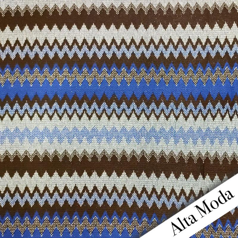 Punto Milano Alta Moda Jacquard Azzurro
