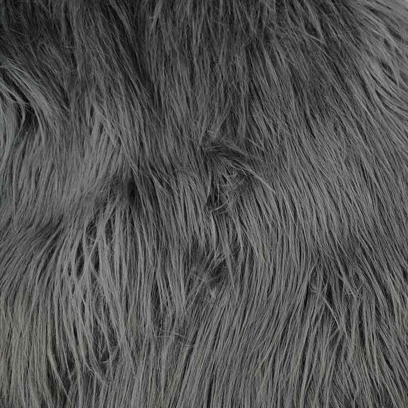 Ecopelliccia Scimmia Pelo Lungo Grigio