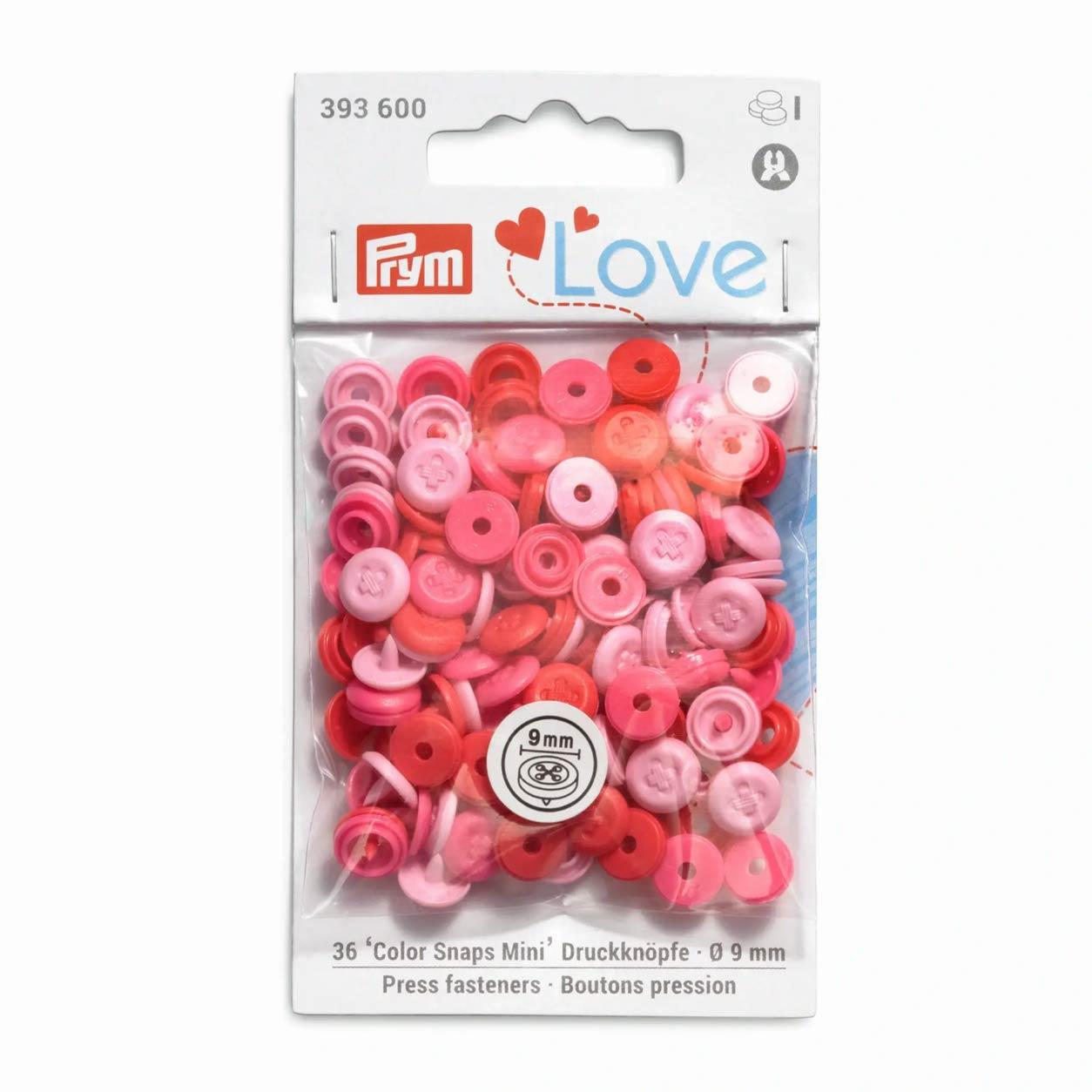 Bottoni a Pressione Color Snap Effetto Cucito Rosa Prym Love 9 mm