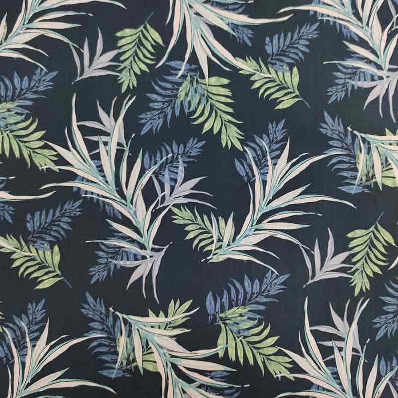 Tessuto Gutermann Jungle su Sfondo Blu