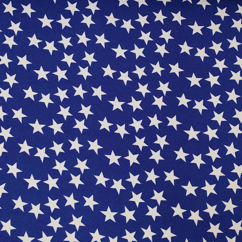 Tessuto Carnevale Stella Blu