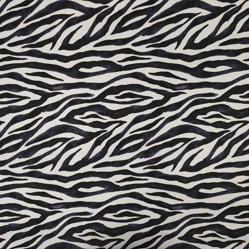 Tessuto Cotone Zebrato Acquerellato