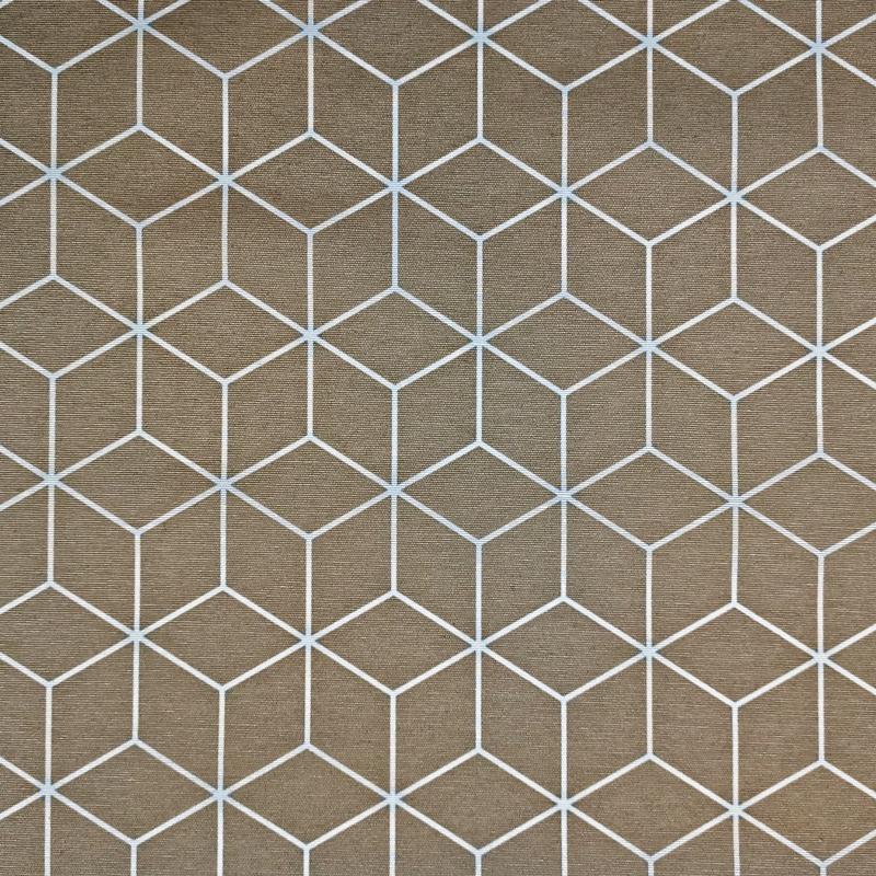 Tovaglia Resinata Geometrica Sfondo Beige
